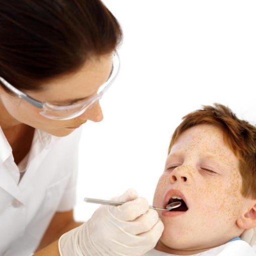 Pecile pulizia denti e otturazione