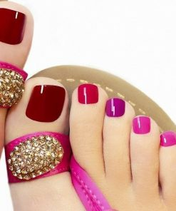 fashion beauty pedicure con scrub e smalto